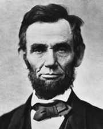 Presidente de los Estados Unidos de América Abraham Lincoln