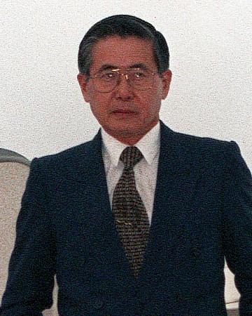 President of Peru Alberto Fujimori