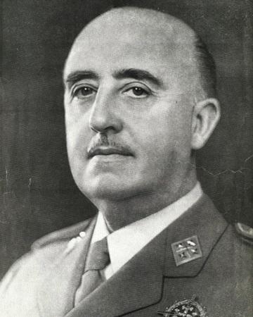 Militar y dictador español Francisco Franco